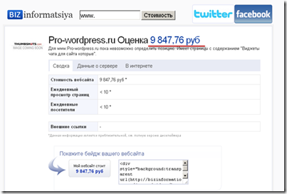 bizinformatsiya.ru,Сервис оценки сайта
