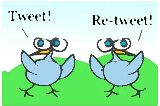 кнопка retweet