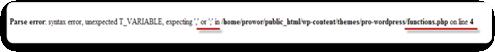 синтаксическая ошибка,не работает блог