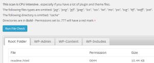 File Permissions & Size Check
