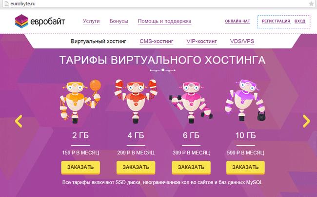 Как разместить сайт на хостинге евробайт готовый сайт и хостинг бесплатно