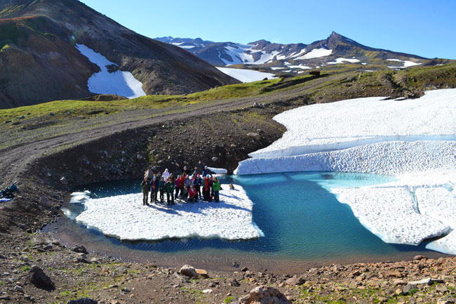 наша группа на льдине