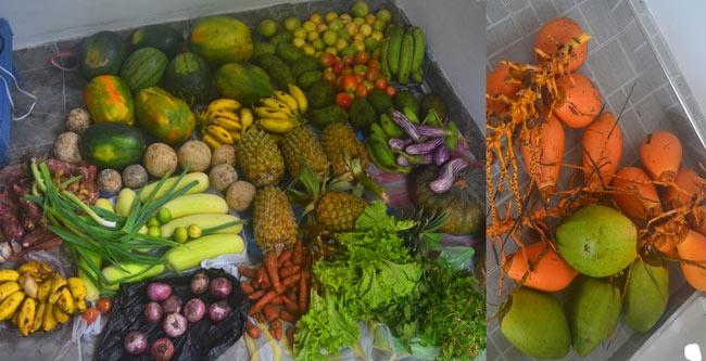 закупились фруктами на воскресном рынке хиккадувы