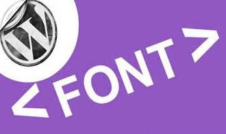 как изменить и подключить шрифт WordPress