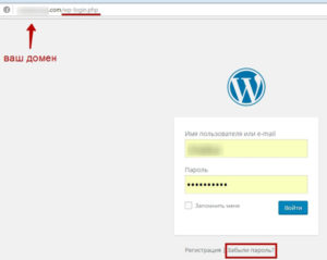 стандартный пароль WordPress