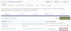 Навигации Bootstrap в WordPress