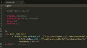 """Убрать """"Сайт работает на Вордпресс"""" с помощью кода"""