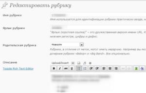 Описание меток на WordPress