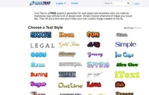 Текстовые логотипы для сайта