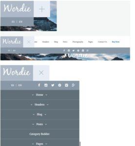 Выезжающее мобильное меню для сайта на WordPress