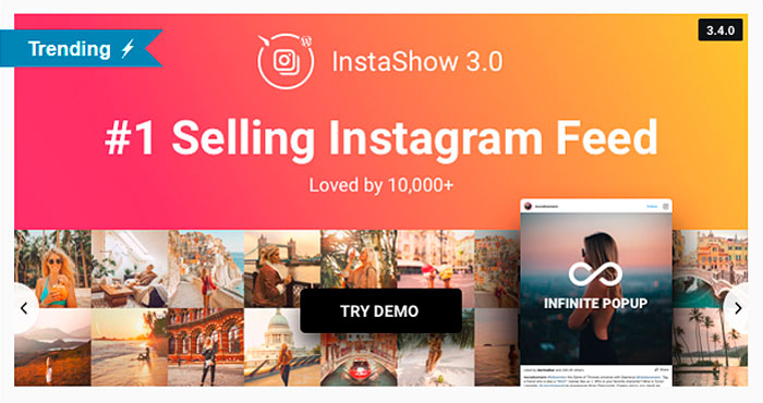 Wordpress Instagram plugin InstaShow
