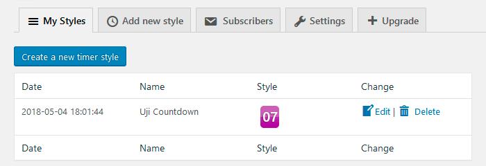 Плаигн Uji Countdown: сохраненный стиль оформления таймера
