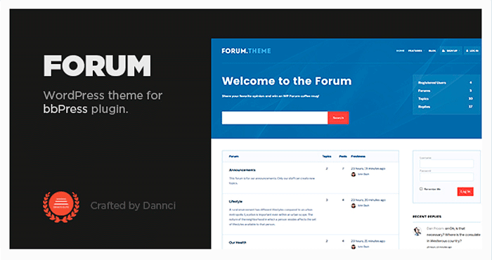 Шаблон Forum WordPress