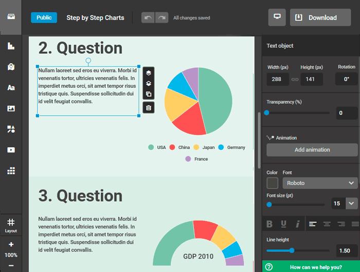 Красивая инфографика: онлайн редактор Infogram