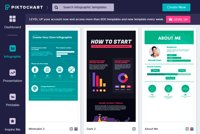 Сервис инфографики онлайнPiktochart