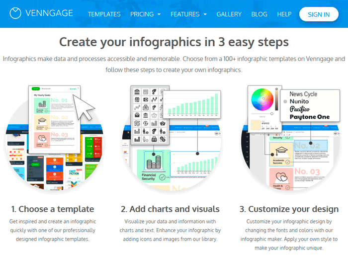 Создание инфографика онлайн бесплатно в сервисе Venngage