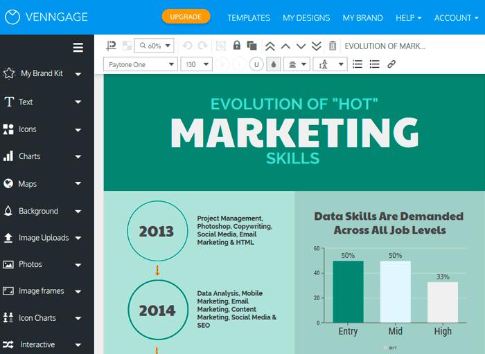 Venngage: инфографика, сделать онлайн бесплатно