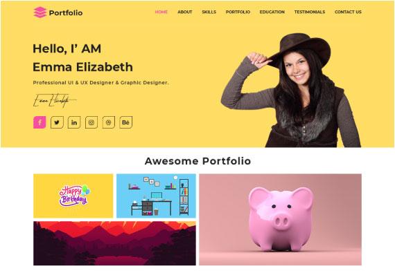 WordPress темы портфолио: Advance Portfolio