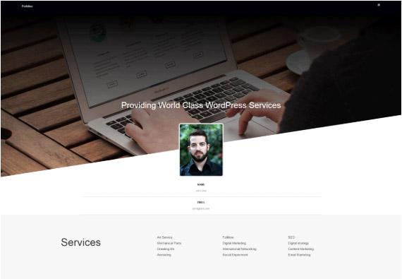 WordPress темы портфолио: Portfolioo